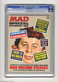 "Magazines:Mad, Mad Special #6 (EC, 1972) CGC NM 9.4 Off-white to white pages. Includes ""Mad Mischief Stickers."" Overstreet 2004 NM- 9.2 val..."