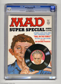 """Magazines:Mad, Mad Super Special #11 (EC, 1973) CGC NM- 9.2 Off-white to whitepages. Norman Mingo cover. Vinyl record with an """"All in the ..."""