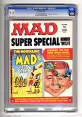 Magazines:Mad, Mad Super Special #12 (EC, 1974) CGC NM- 9.2 Off-white to whitepages. Nostalgic Mad #2 included. There is a one inch cr...