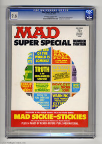 """Mad Super Special #13 (EC, 1974) CGC NM+ 9.6 Off-white to white pages. Full-color Mad """"Sickie-Stickies"""" double..."""