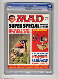 Mad Super Special #17 (EC, 1975) CGC NM/MT 9.8 Off-white to white pages. Eight Don Martin vital message posters, and eig...