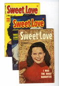 Golden Age (1938-1955):Romance, Sweet Love #2-5 Group (Harvey, 1949-50) Condition: Average VG.... (Total: 4 Comic Books)