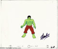 Original Comic Art:Miscellaneous, Hulk Animation Cels Signed by Stan Lee Original Art (Marvel, circa1980s). Two cels are featured in this group lot; one of t...(Total: 2 items Item)