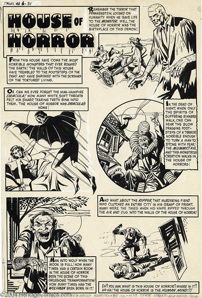 Rudy Palais (attributed) - Witches Tales #6 page Original