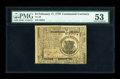 Colonial Notes:Continental Congress Issues, Continental Currency February 17, 1776 $1 PMG About Uncirculated 53....