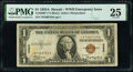 Small Size:World War II Emergency Notes, Fr. 2300* $1 1935A Hawaii Silver Certificate Star. PMG Very Fine 25.. ...
