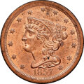 1857 C-1, B-1, R.2, MS64 Red NGC. CAC. Our EAC grade MS64. ...(PCGS# 35341)