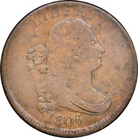 1806 Small 6, Stems, C-3, B-2, High R.5, Fine 15 NGC. Our EAC grade VG10. ...(PCGS# 35197)