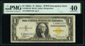 Small Size:World War II Emergency Notes, Fr. 2306 $1 1935A North Africa Silver Certificate. PMG Extremely Fine 40.. ...