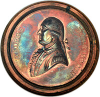 (1864) George Washington Letter to Hamilton Medal, Copper, MS64 Red and Brown NGC. Baker-257A, DeWitt-AW-1864-3, Musante...