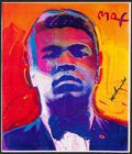 Boxing Collectibles:Autographs, Muhammad Ali Signed Peter Max Print. ...
