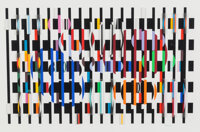 Yaacov Agam (b. 1928) Polymorph, circa 1980 Serigraph polymorph in colors on acrylic 25 x 36 inches (63.5 x 91.4 cm)