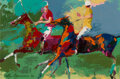Paintings, LeRoy Neiman (American, 1921-2012). Polo Players, 1966. Oil on board. 7-7/8 x 12 inches (20.0 x 30.5 cm). Signed and dat...