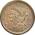 1853 C-1, B-1, R.1, MS64 Brown NGC. CAC. Our EAC grade MS60. ...(PCGS# 35327)