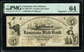 Obsoletes By State:Louisiana, New Orleans, LA- Louisiana State Bank Second Municipality Branch $5 Apr. 11, 1854 Remainder PMG Choice Uncirculated 64....