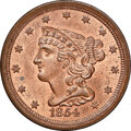 1854 C-1, B-1, R.1, MS64 Red and Brown NGC. CAC. Our EAC grade MS63. ...(PCGS# 35331)