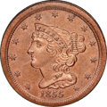 1855 C-1, B-1, R.1, PR64 Red and Brown NGC. Our EAC grade PR64. ...(PCGS# 1327)