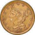 Patterns, 1856 Judd-177, Breen-2c, Pollock-205, R.4, MS64 NGC. CAC. Our EAC grade MS62. ...