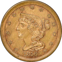 1856 Judd-177, Breen-2c, Pollock-205, R.4, MS64 NGC. CAC. Our EAC grade MS62. ...(PCGS# 11777)