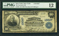 National Bank Notes:New York, New York, NY - $10 1902 Plain Back Fr. 635 The Claremont National Bank Ch. # 13027 PMG Fine 12.. ...