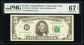 Small Size:Federal Reserve Notes, Fr. 1974-B* $5 1977 Federal Reserve Star Note. PMG Superb Gem Unc 67 EPQ.. ...