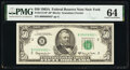 Fr. 2113-B* $50 1963A Federal Reserve Star Note. PMG Choice Uncirculated 64