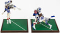 Football Collectibles:Others, Limited Edition Dallas Cowboys Super Bowl XXVII Statures, Lot of 2. ...