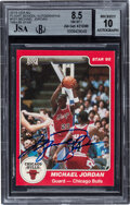 Basketball Cards:Singles (1980-Now), Signed 1984-85 Star Co. Michael Jordan #101 BGS NM-MT+ 8.5, Auto 10....