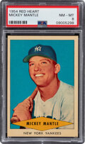 Baseball Cards:Singles (1950-1959), 1954 Red Heart Mickey Mantle PSA NM-MT 8. ...