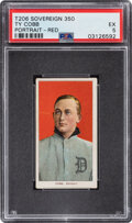 Baseball Cards:Singles (Pre-1930), 1909-11 T206 Sovereign 350 Ty Cobb Portrait-Red PSA EX 5 - Only One Higher for Brand/Series. ...
