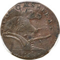 Colonials, 1787 New Jersey Copper, Sprig Above Plow, M. 73-aa, R.5, XF40 PCGS....