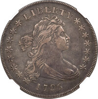 1796 $1 Small Date, Large Letters, B-4, BB-61, R.3, XF45 NGC....(PCGS# 40000)