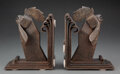 Decorative Accessories, Pair of Edgar Brandt Wrought Iron Rooster Bookends, circa 1925. Marks: E BRANDT. 8-1/2 inches (21.6 cm) (eac... (Total: 2 Items)