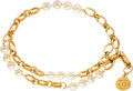 """Luxury Accessories:Accessories, Chanel Pearl & Gold Chain Belt. Condition: 3. 1"""" Width x 35"""" Length . ..."""