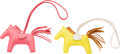 """Luxury Accessories:Accessories, Hermès Set of Two: Rodeo PM Charms. Condition: 1. 3.5"""" Width x 3"""" Height x .5"""" Depth. ... (Total: 2 Items)"""