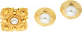 Luxury Accessories:Accessories, Chanel Set of Two: Glass Pearl Clip-On Earrings and Brooch. Condition: 3. See Extended Condition Report for Sizes.. ... (Total: 2 )
