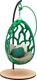 "Luxury Accessories:Home, Louis Vuitton Limited Edition Miniature Green Cocoon Decorative Object. Condition: 1. 14.5"" Height x 7"" Diameter. ..."