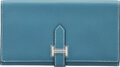 """Luxury Accessories:Accessories, Hermès Blue Jean Epsom Leather Trifold Bearn Wallet with Palladium Hardware. J Square, 2006. Condition: 1. 7"""" Widt..."""