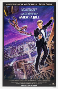 """A View to a Kill (United Artists, 1985). Rolled, Very Fine. One Sheet (27"""" X 41"""") SS Advance, Dan Goozee Artwo..."""