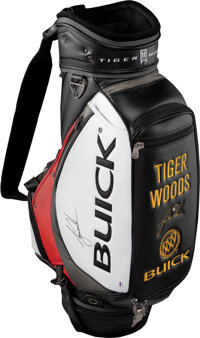 Tiger Woods Signed Full Sized Golf Bag - From High Ranking Buick Executive