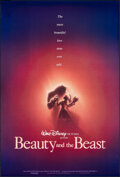 """Movie Posters:Animation, Beauty and the Beast (Buena Vista, 1991). Rolled, Very Fine. One Sheet (27"""" X 40"""") DS Advance, John Alvin Artwork. Animation..."""