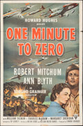 """Movie Posters:War, One Minute to Zero (RKO, 1952/R-1956). Folded, Overall: Fine+. One Sheet (26.75"""" X 40.75"""") & Photo (8"""" X 10""""). War.. ..."""