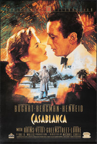 """Casablanca (MGM/UA Home Video, R-1992). Rolled, Very Fine+. 50th Anniversary Video One Sheet (26.75"""" X 39.75"""")..."""