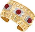 Estate Jewelry:Bracelets, Diamond, Coral, Gold Bracelet. ...
