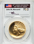 2019-W $100 High Relief Enhanced, First Day of Issue, Mercanti Flag, Chicago ANA SP70 Prooflike PCGS. PCGS Population: (...