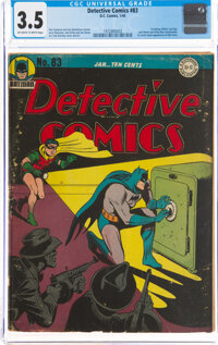 Detective Comics #83 (DC, 1944) CGC VG- 3.5 Off-white to white pages