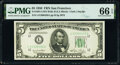Small Size:Federal Reserve Notes, Fr. 1961-L $5 1950 Wide II Federal Reserve Note. PMG Gem Uncirculated 66 EPQ.. ...