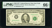 Fr. 2168-B* $100 1977 Federal Reserve Star Note. PMG Gem Uncirculated 66 EPQ