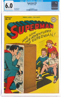 Superman #39 (DC, 1946) CGC FN 6.0 Cream to off-white pages