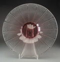 Glass, Large Schneider Acid Etched Glass Coupe, circa 192...